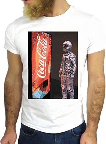 T-SHIRT JODE GGG24 Z0726 WARS COLA FUN COOL VINTAGE ROCK FUNNY FASHION CARTOON NICE AMERICA BIANCA - WHITE M