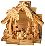 Earthwood Olive Wood Nativity Set with Carved Figures