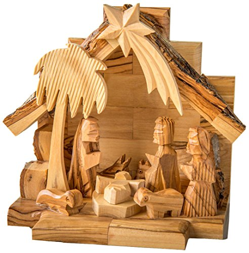 Earthwood Olive Wood Nativity Set with Carved Figures by Earthwood (Image #1)