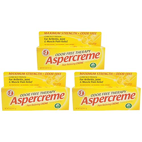 ASPERCREME Pain Relieving Creme 5 oz (Pack of 3)