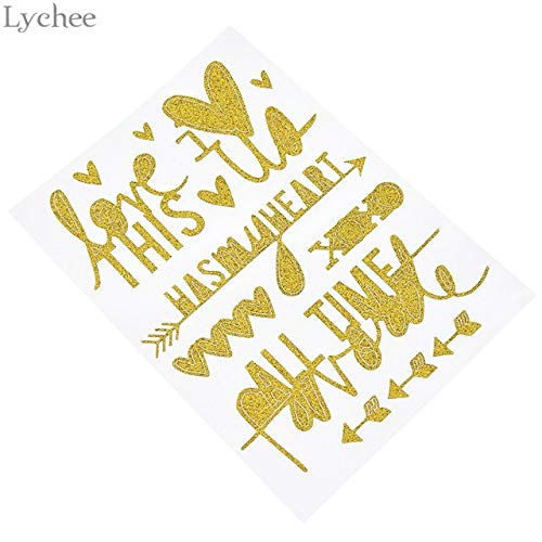 Cacys-Store - PVC Gold Phrase Tags Stickers DIY Handmade Scrapbooking Sticker Label Diary Stationery Album Stickers Kids Room ()