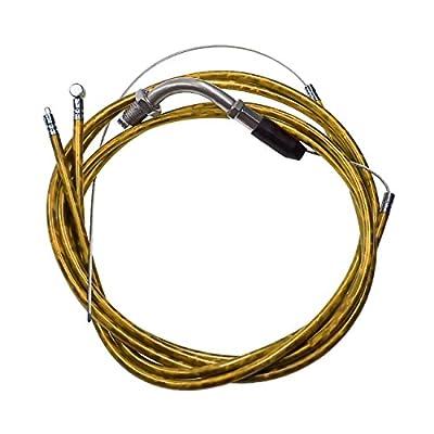 NORTHTIGER Yellow Throttle Cable & Clutch Cable Line for 49cc 60cc 66cc 80cc Motorized Bike: Automotive