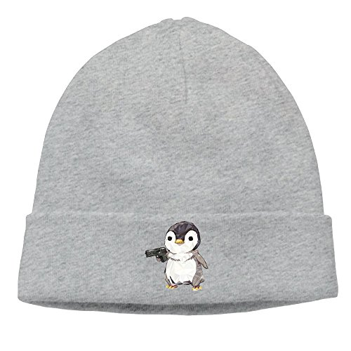 The Male And Female General Cubic Penguin Power The Hip-hop Cap The Autumn And Winter Season Belt Are Very Suitable Ash -