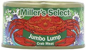 Miller's Select Jumbo Lump Crab Meat, 6.5-Cans (Pack of 12)