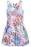 Bonnie Jean Girls' Green & Purple Floral-Print Brocade Dress