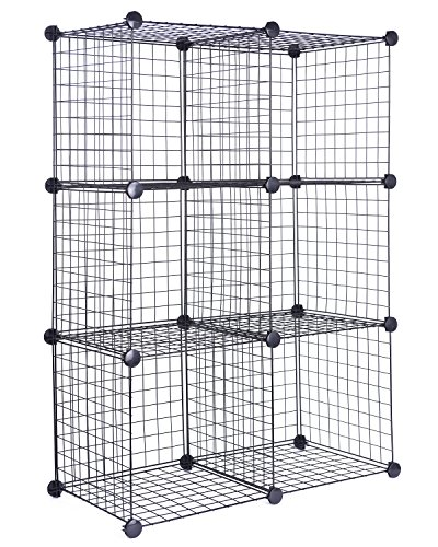 J.S. Hanger Black Wire Storage Cubes, Set of 6. DIY small pet cages.