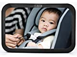 #7: Baby & Mom Back Seat Baby Mirror - Rear View Baby Car Seat Mirror Wide Convex Shatterproof Glass and Fully Assembled - Crash Tested and Certified for Safety