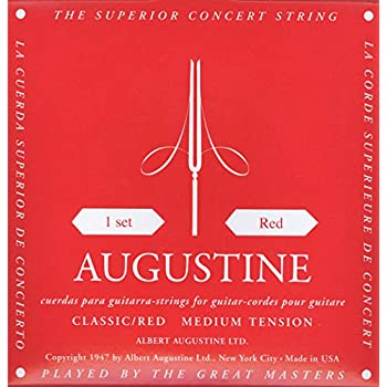 AUGUSTINE CLASSIC-RED MEDIUM TENSION CLASSICAL GUITAR STRINGS