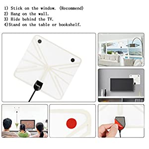 TV Antenna,LinkS 50 Miles Digital Indoor Amplified TV Antenna with Advanced Amplifier Signal Booster,Innovative Silver Paddle Extremely High Reception-2018 New Version
