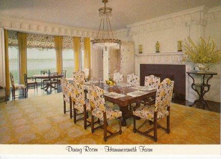 Unused Postcard Dining Room Hammersmith Farm Ocean Drive Newport Rhode Island