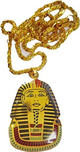 Egyptian king Tut Necklace Pendant Ankh Ancient Pharaoh Egypt Jewelry Handmade (Egyptian King Tut Necklace)