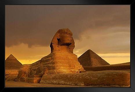 Egypt Poster Ancient Monuments PYRAMIDS OF GIZA Glossy 8x10 Photo Print Cairo