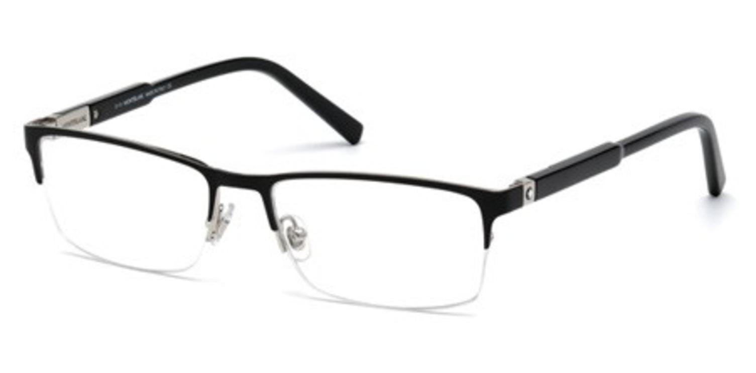 Eyeglasses Montblanc MB 636 MB 0636 001 shiny black by MONTBLANC