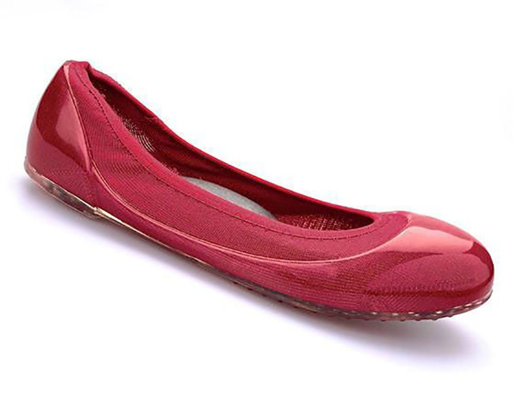 JA VIE Womens Summer Shoes Womens Ballet Flats Style For Every Day Wear Driving, Red SZ 41