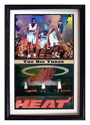 Encore NBA Miami Heat 12x18 Double Frame The Big Three Print
