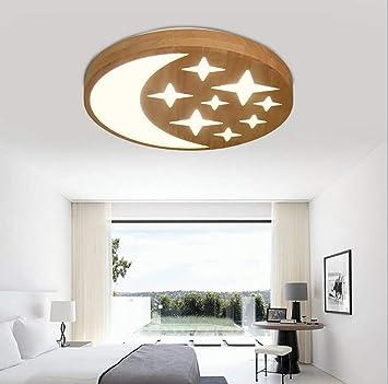 REEP Luces de Techo LED Simplicidad Moderna Madera Natural ...