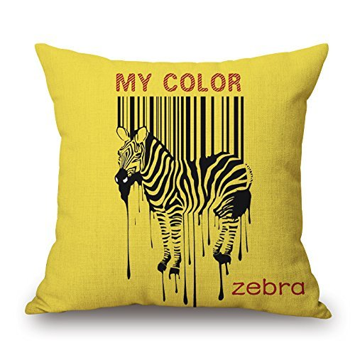Jagfhhs Pillow Covers Of Zebra Best Fit For Bar Christmas Club Bar Seat Deck Chair Father Double Sides 20×20 inch