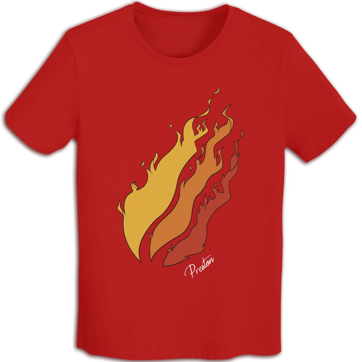 Cool Preston Playz Shirts Casual Short Sleve T-Shirt Pure Cotton Tops for Teenagers Boys Girls