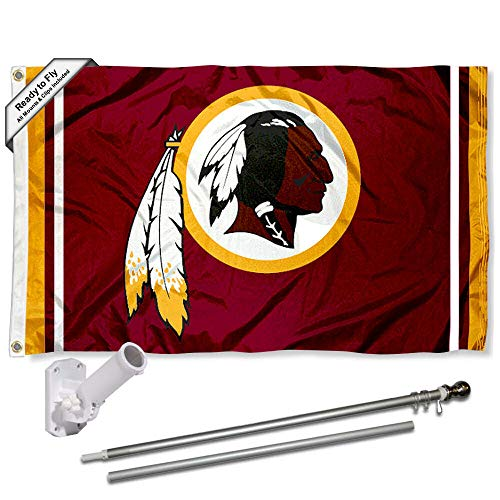 Nfl Flag Pole - WinCraft Washington Redskins Flag Pole and Bracket Kit