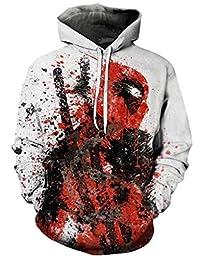 Ampparels Pool Hooded Sweatshirt Superhero 3D Print Men Sweatshirts Hoodie Hoody