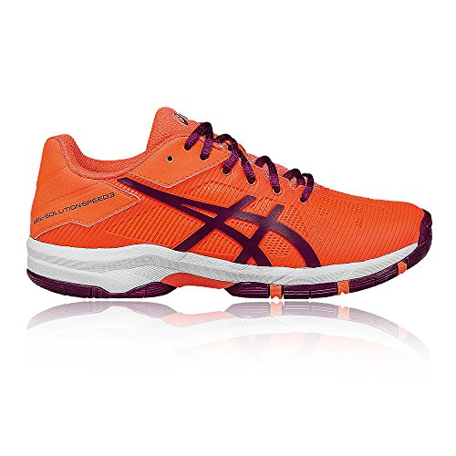 Asics Gel-Solution Speed 3 GS Junior Tennis Shoes FLASH CORAL/PLUM/FLASH CORAL sbUstxDg