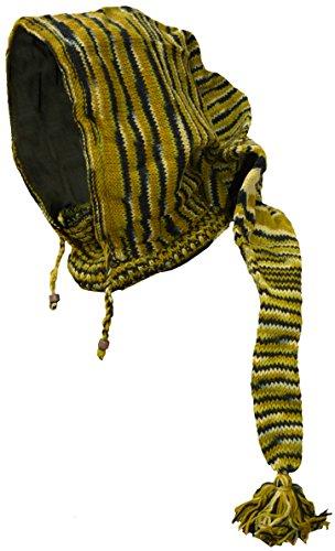 lana sombrero nbsp;– Green tejer de de campana bufanda polar Pixie de de cuello Black larga Poco nbsp;Braga de forro Dye Katmandú con de Tie dT7wcqR