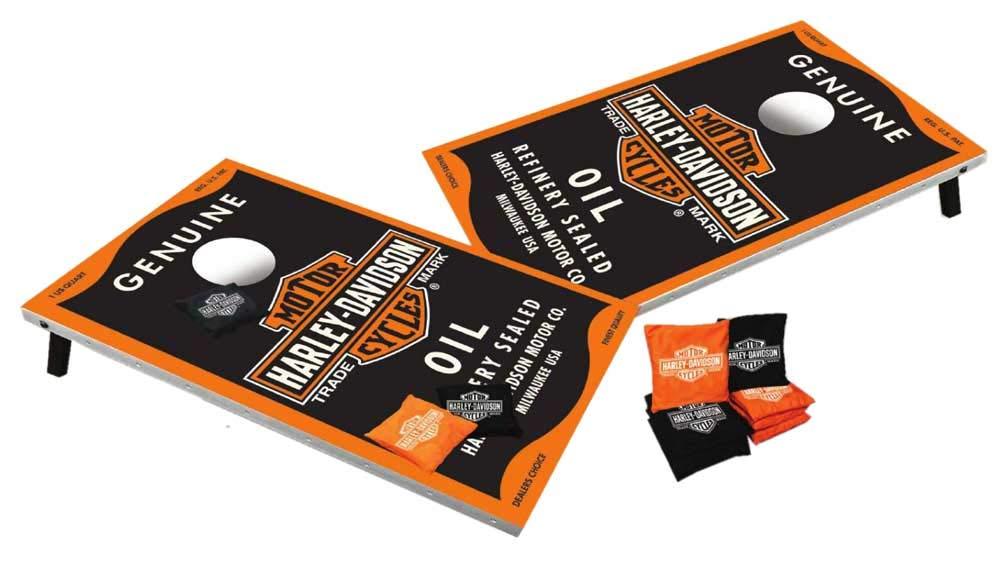 HARLEY-DAVIDSON Genuine Oil Can Bar & Shield Bean Bag Toss, Black 66236 by HARLEY-DAVIDSON