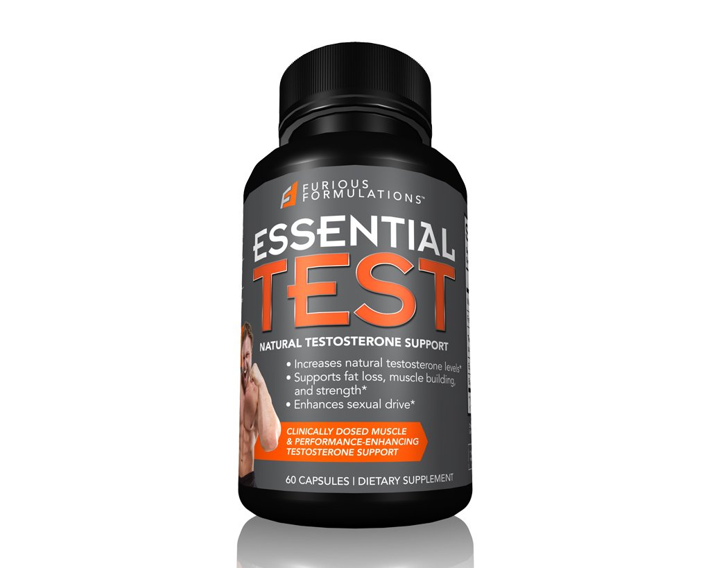 FURIOUS FORMULATIONS Essential Test Natural Testosterone Support 60 Capsules