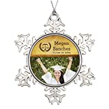 Personalised Christmas Tree Decoration Classic Scales of Justice Law School Graduation Snowflake Ornament Tree
