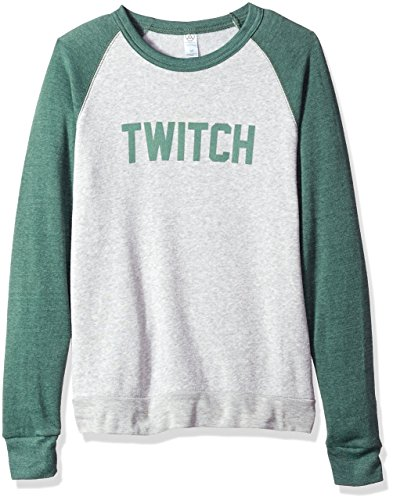 - Twitch Colorblock Crewneck Sweatshirt (2XLarge, Pine/Oatmeal)