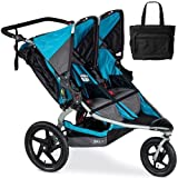 BOB - Revolution FLEX Duallie Double Stroller with Bag - Lagoon Silver