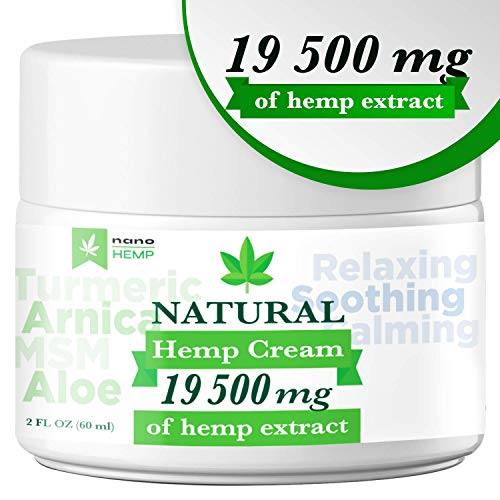 Organic Hemp Pain Relief Cream with Arnica, Aloe, 19 500 Mg (Best Medical Marijuana For Pain)