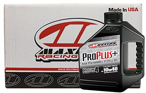 (Maxima Racing Oils CS30-029128-4PK-4PK 10W-40 Pro Plus+ Synthetic Motorcycle Engine Oil - 4 gal, (Pack of 4))