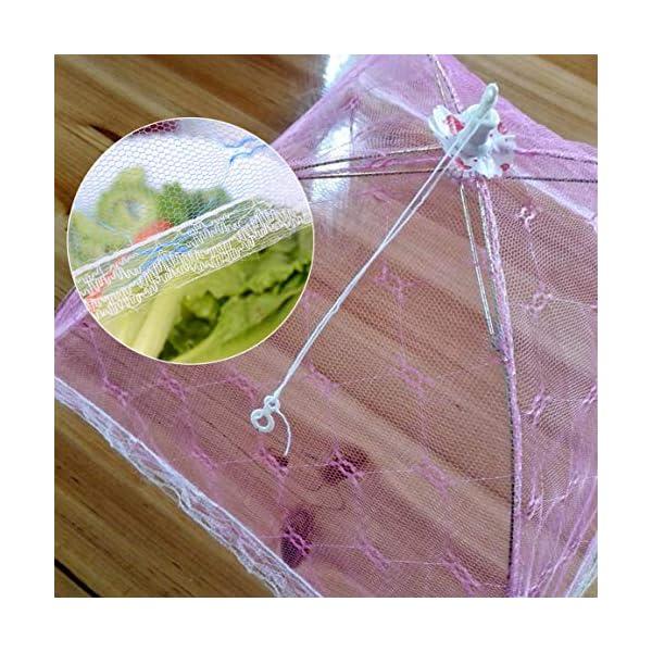 Ombrello Coperchi per alimenti Anti Fly Zanzara Pasto Coperchio Tavolo in pizzo Uso domestico Copertura per alimenti… 6 spesavip