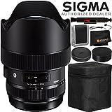 Sigma 14-24mm f/2.8 DG HSM Art Lens for Canon EF – 4PC Accessory Bundle