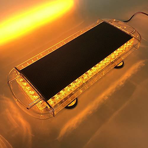 VSLED Black Aluminium Case 55cm 48 LED Emergency Recovery LightBar Wrecker Flashing LightBar Beacon Strobe Amber Light Bar