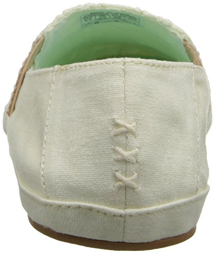 Rieten Dames Schaduwrijke Zomer Tx Mode Sneaker Crème