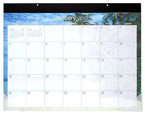 UPC 038576024151, AT-A-GLANCE DMDTE232 Tropical Escape Desk Pad, 22 x 17, 2016