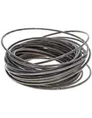 Durable Crane Accessories PVC Coated Steel Wire Cable 304-Stainless-Steel Flexible Wire Rope 1.2/3/5mm Dia 5~10m Long Soft Lifting Cable Clothesline 1pcs Stainless Steel Fittings