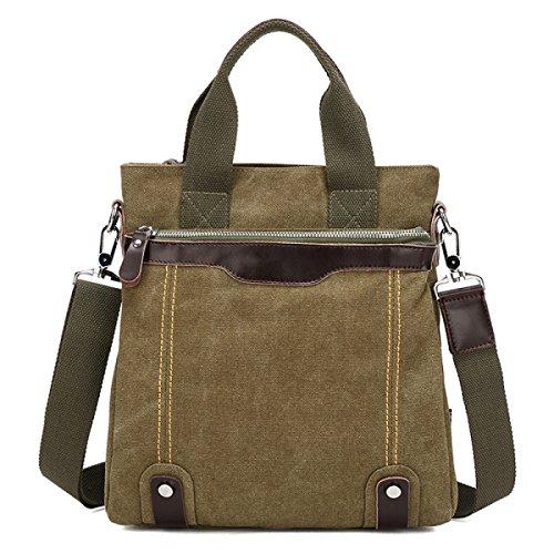 Travel Men Green Canvas Leisure Backpack purpose Multi Business Handbag Bag Shoulder Laidaye zdq1Unq