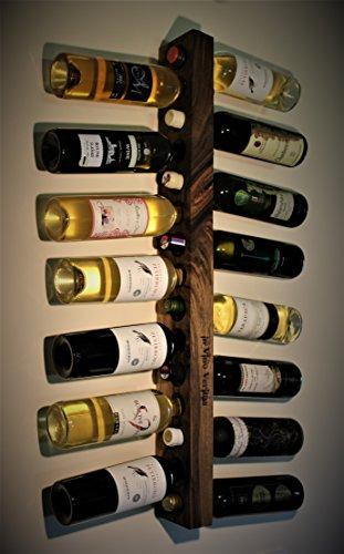 Estante del vino, madera, madera quemada, designe de la pirografía ...