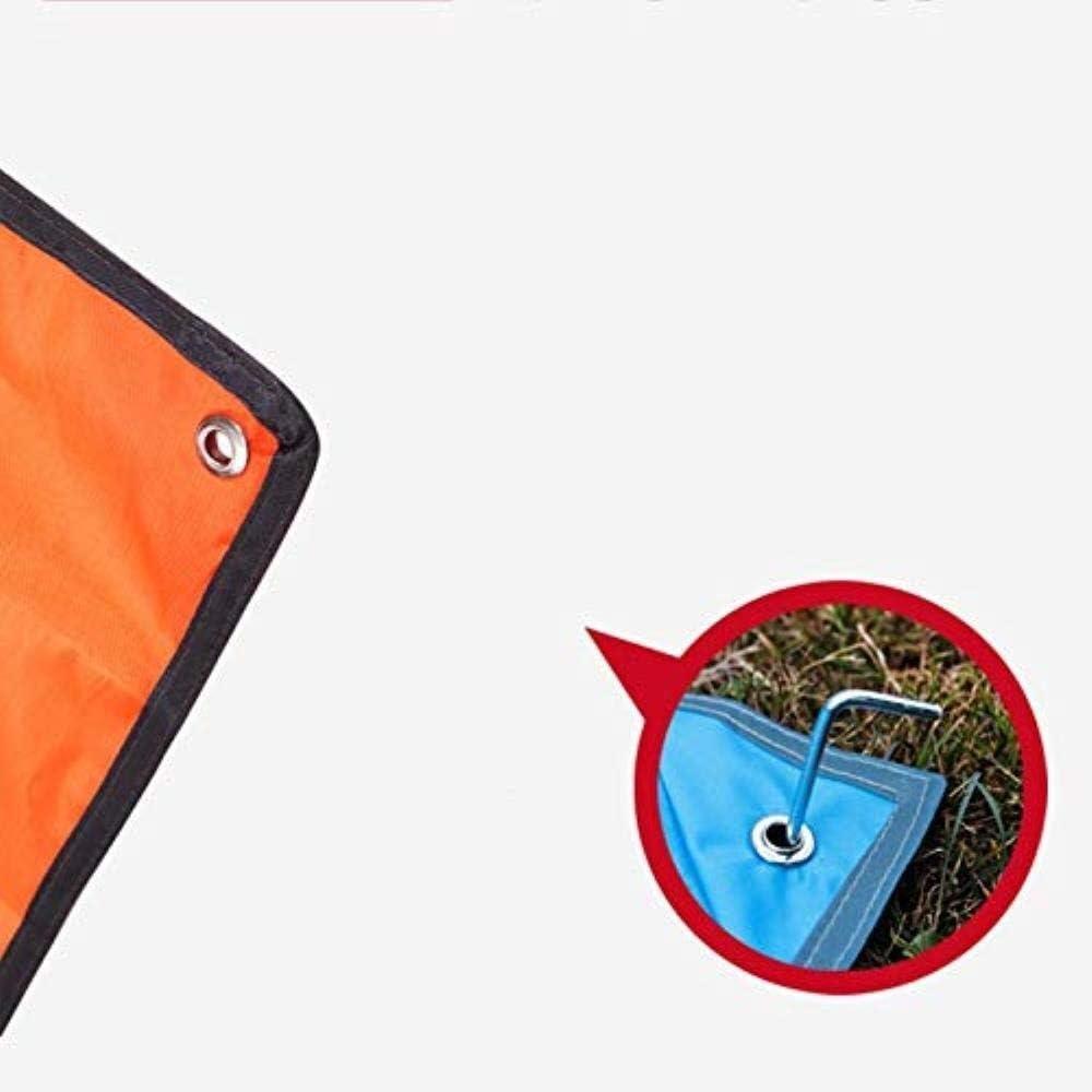 Picnic Mat Beach Blanket Pieghevole Beach Mat Esterna Coperta da Picnic Portatile Impermeabile 150 × 200cm / 300 × 300 Centimetri Orange