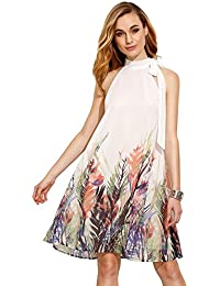 Women's Summer Chiffon Sleeveless Party Dress