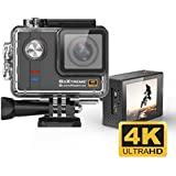 GoXtreme 4K Sports Action Camera: BlackHawk Compact POV Cam System with Ultra HD Video, WiFi and Accessories, Including Underwater Case & Helmet Mount