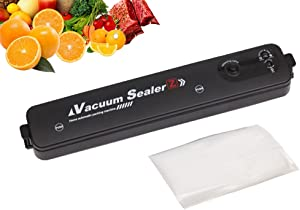 Food Saver Vacuum Sealer Machine For Food,Food Saver One-Button Automatic Vacuum Packing Sealing Freeze Dryer Machine 60Kpa for Food Preservation with 10 Pcs Vacuum Sealer Bags,Led Indicator Lights And Easy to Clean