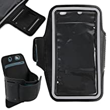 DURAGADGET Premium Quality Unisex Sports Armband in Black for the New Motorola Moto X Play / Moto X Style / Moto G (3rd Gen) / Moto X Pure Edition - Perfect for Running, Cycling & the Gym!