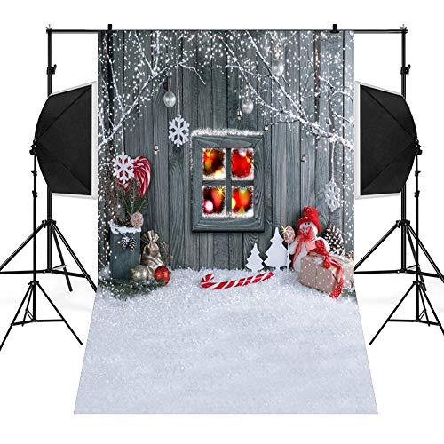 MSOO Christmas Backdrops Snow Vinyl 3x5FT Background Photography Studio (C 90x150cm) -