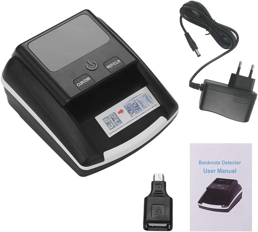 Billetes Falsos Detector Detector De Billetes Portátil De Billetes Pequeños Denominación Contador De Valor Uv/Mg/Ir Falsificación Dinero Falso Moneda Efectivo Comprobador