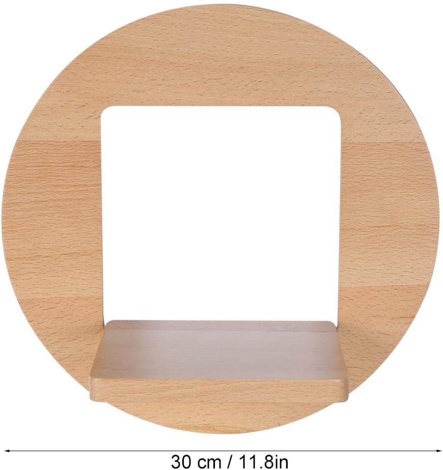 Estante para macetas soportes para plantas de madera de haya de alta calidad Soporte para macetas Estante para plantas en maceta montado en la pared para sala de estar Estante colgante para balc/ón