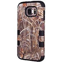 Galaxy S6 Case, MIMICat® Realtree Camo Defender Series Case Cover for Samsung Galaxy S6 (Black)